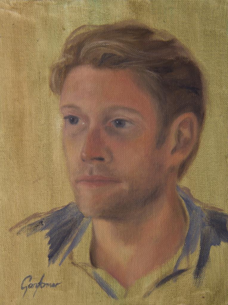 Alla Prima Oil Portrait Study - Carl