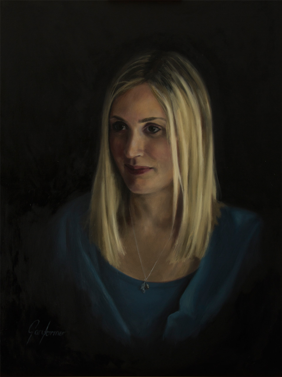 Alla Prima Portrait Painting of Rebecca