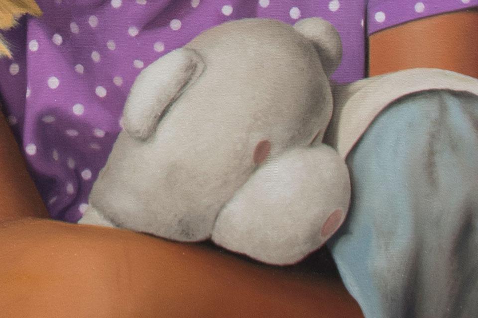Oil Painting of Teddy Bear