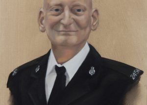 Oil Portrait Painting of Policeman