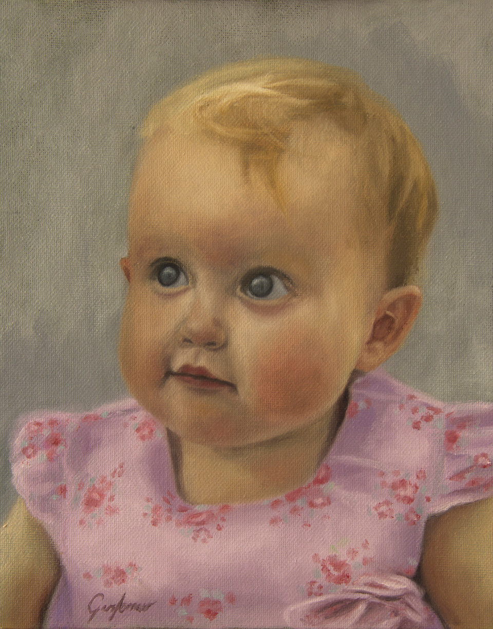 Portrait Painting of Toddler