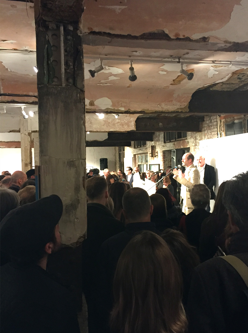 Gavin Turk Speaks at the NOA Private View