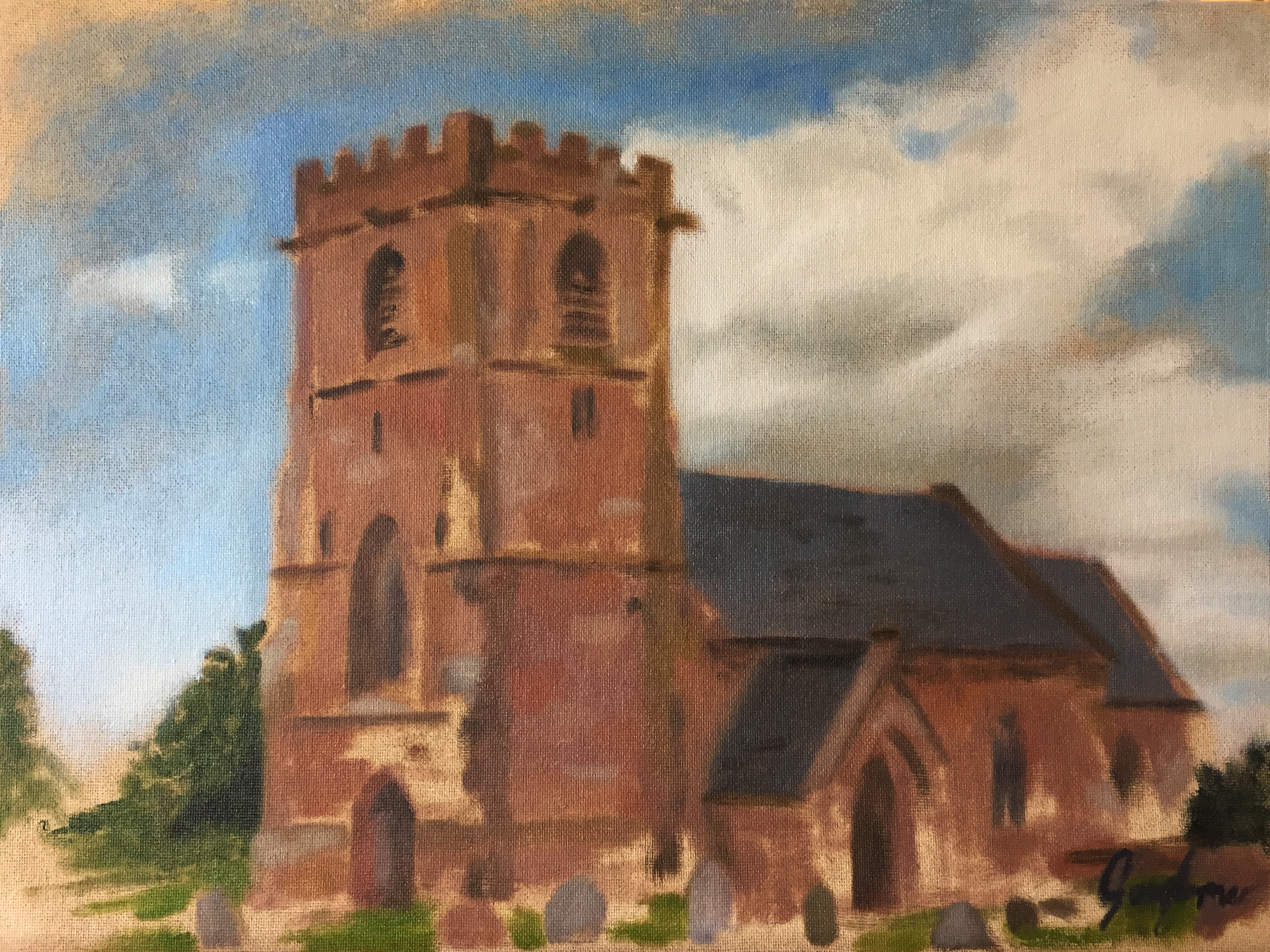 Plein Air Colour Study of Church