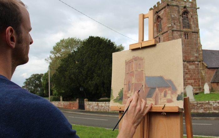 Gary Armer painting Plein Air