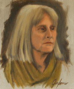 Alla Prima Portrait Painting of Norma