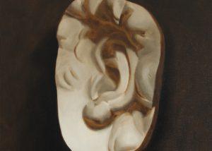 Cast Painting of Michelangelo's David's Ear