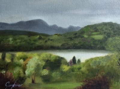 Painting of Lake Windermere