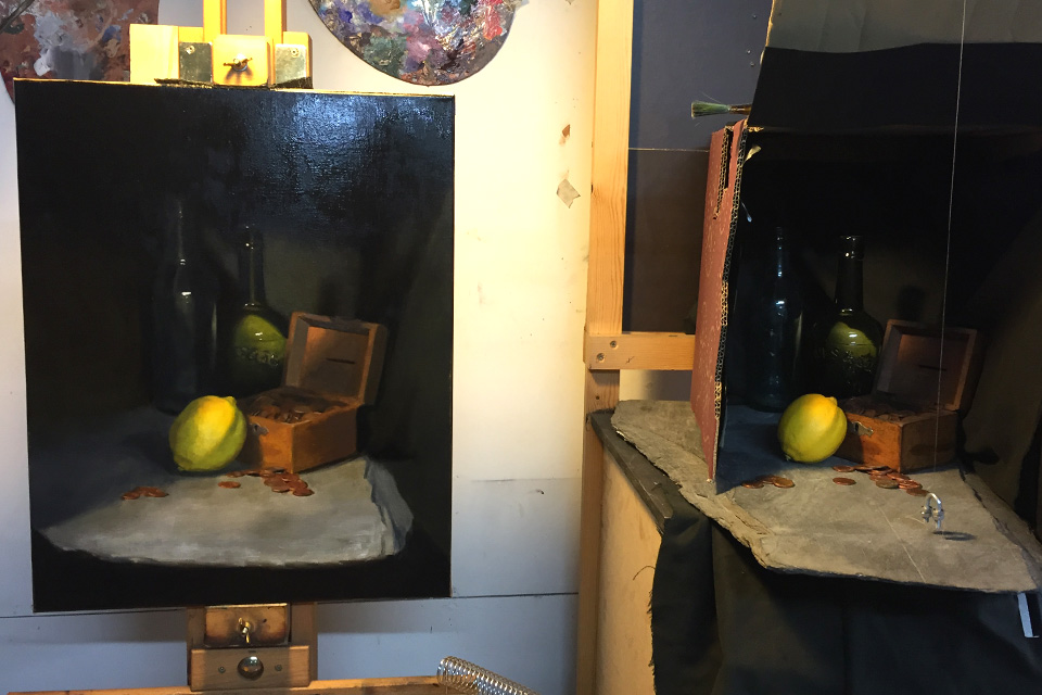 Still Life Painting from Life