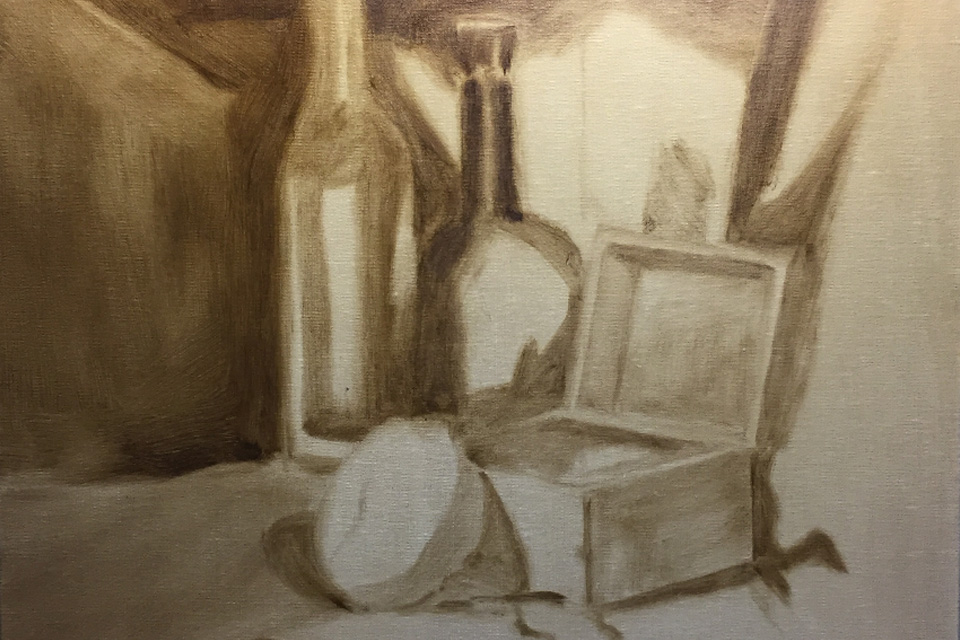 Still Life Painting In Progress