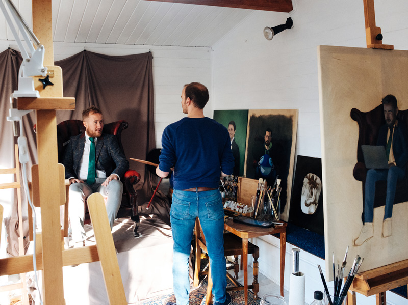 Artist and Sitter in the Studio
