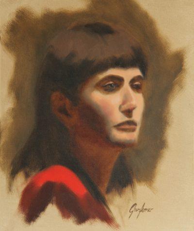 Alla Prima Portrait of a Brunette Lady