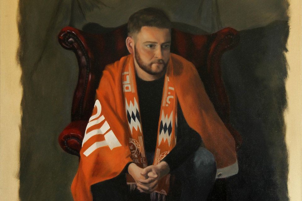 Painting of a Blackpool FC Fan