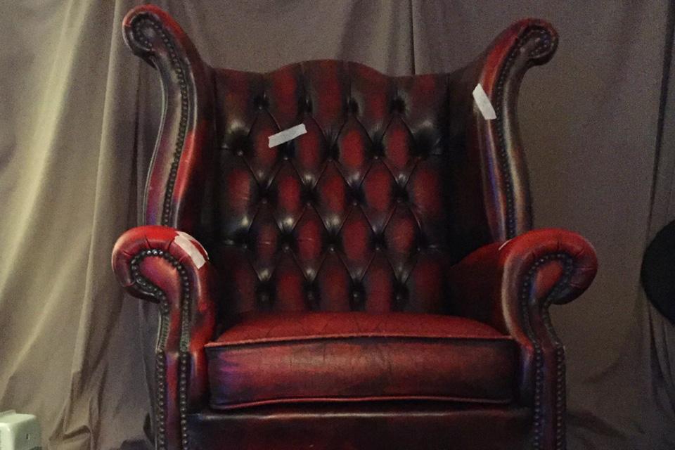 Chesterfield Armchair in Art Studio
