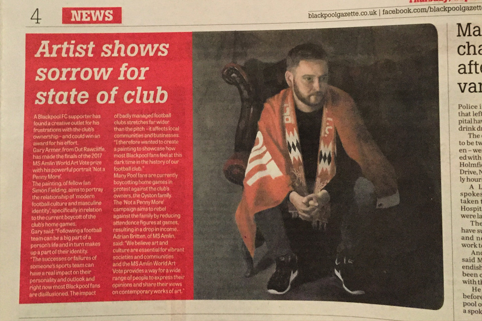 Not a Penny More Blackpool Gazette Coverage