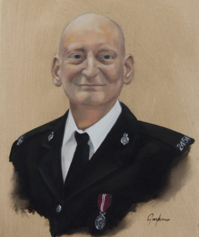 Portrait Painting of a Policeman