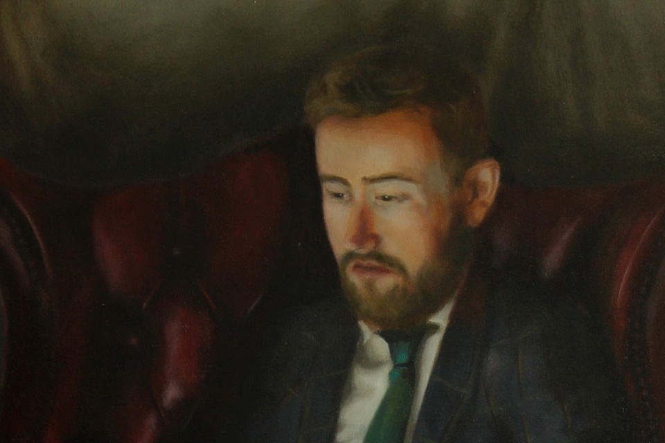 Close Up Detail of Portrait Painting