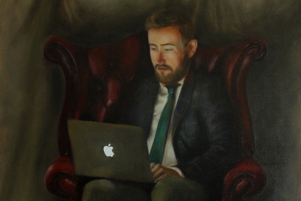 Painting Featuring Apple MacBook