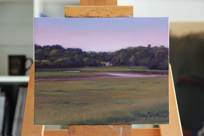 Across the Wyre to Pool Foot Lane Plein Air Painting