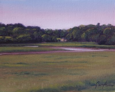 Across the Wyre to Pool Foot Lane Painting
