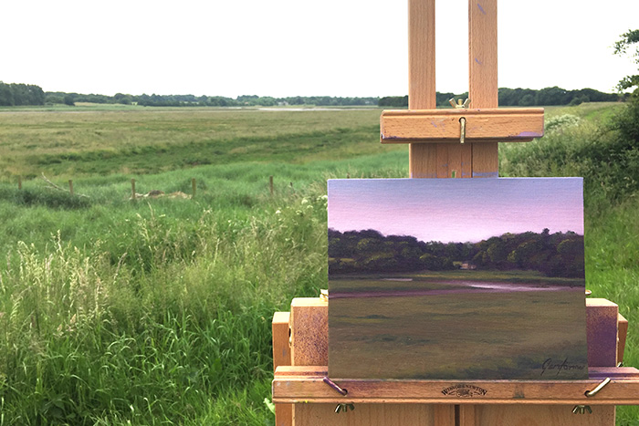 Across the Wyre to Pool Foot Lane Painting Plein Air
