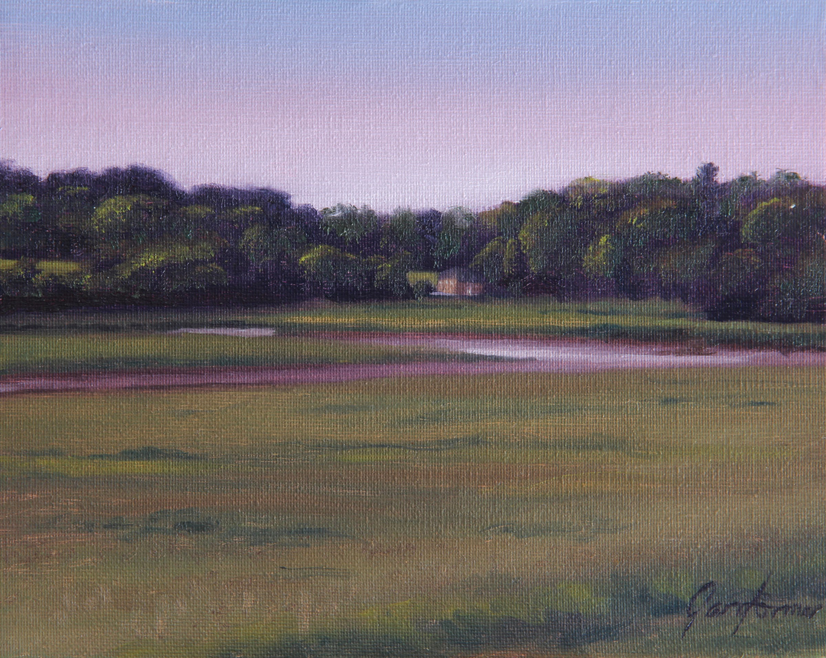 Across the Wyre to Pool Foot Lane Landscape Painting