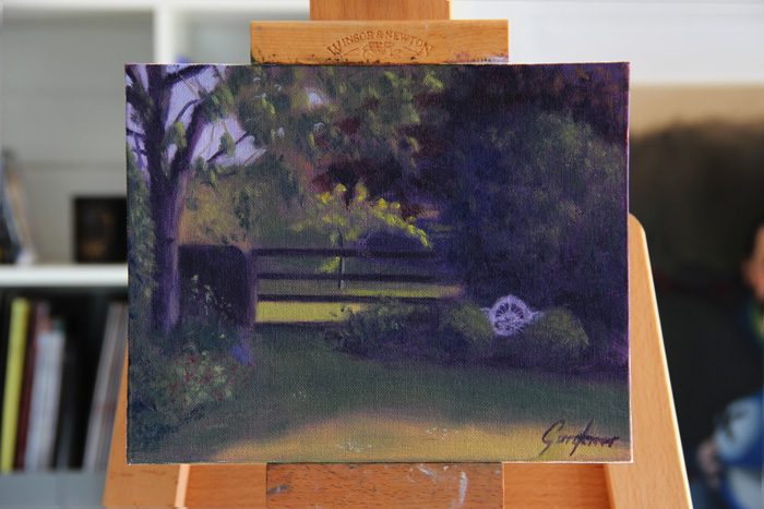Cottage Garden Plein Air Painting