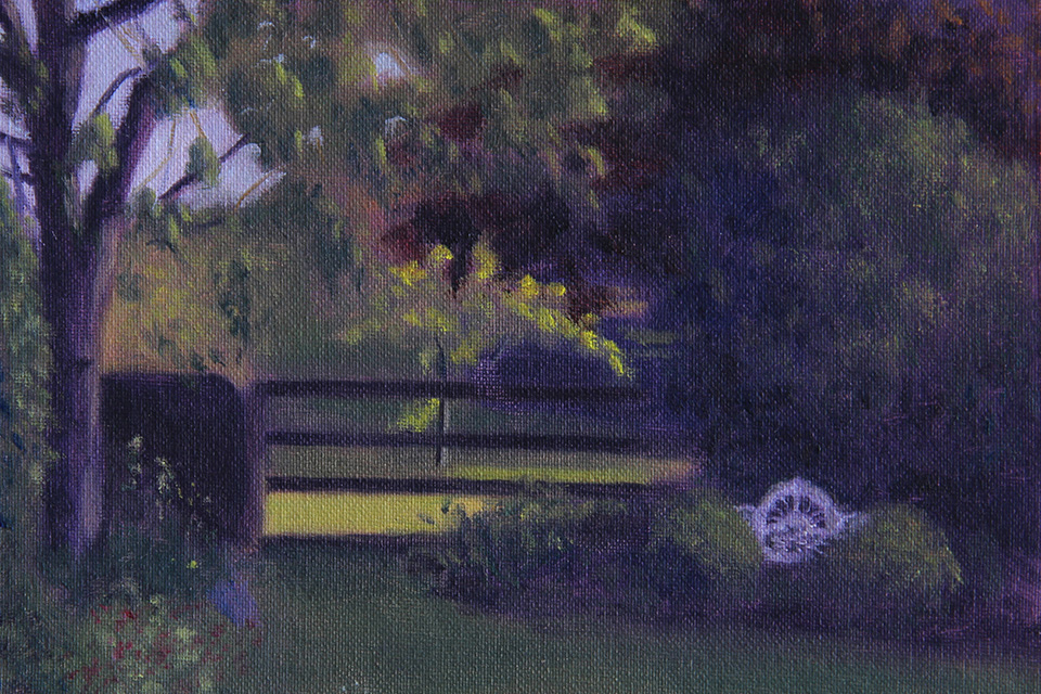 Cottage Garden in the Late Afternoon Sun Painting