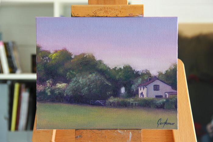 Cottage on Turkey Street Plein Air Painting