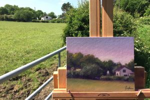 Plein Air Painting of a Cottage