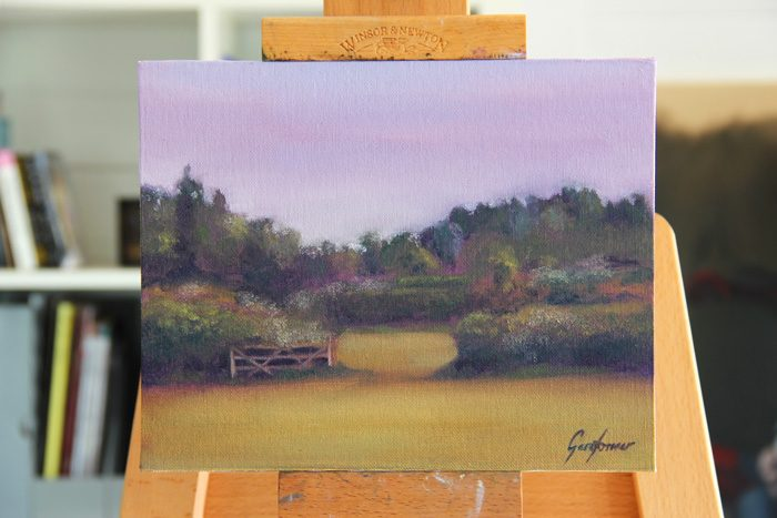 Farm Gate in the Morning Sun Plein Air Painting