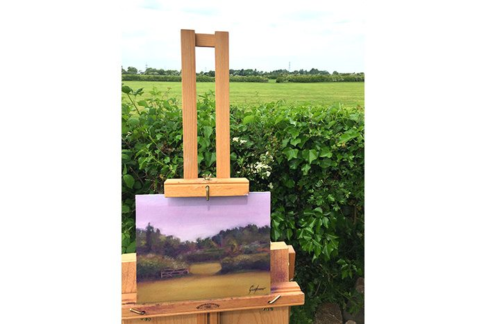 Farm Gate in the Morning Sun Painting Plein Air