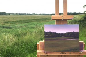 Plein Air Painting of the River Wyre