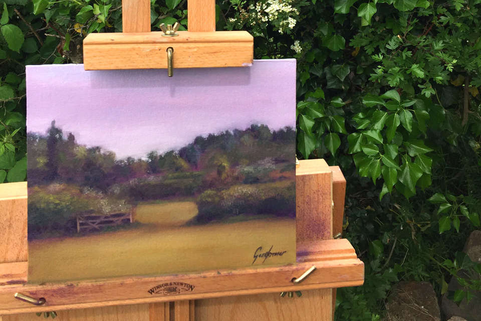 Plein Air Painting of Farm Gate
