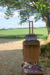 Plein Air Painting Towards the Pennines