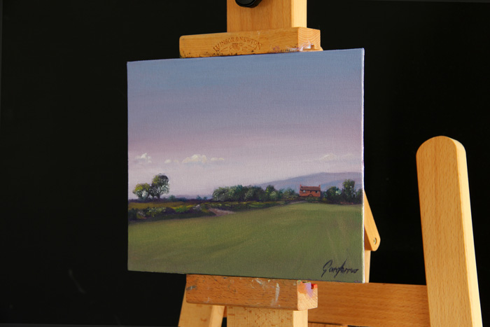Towards the Pennines from Union Lane Original Painting