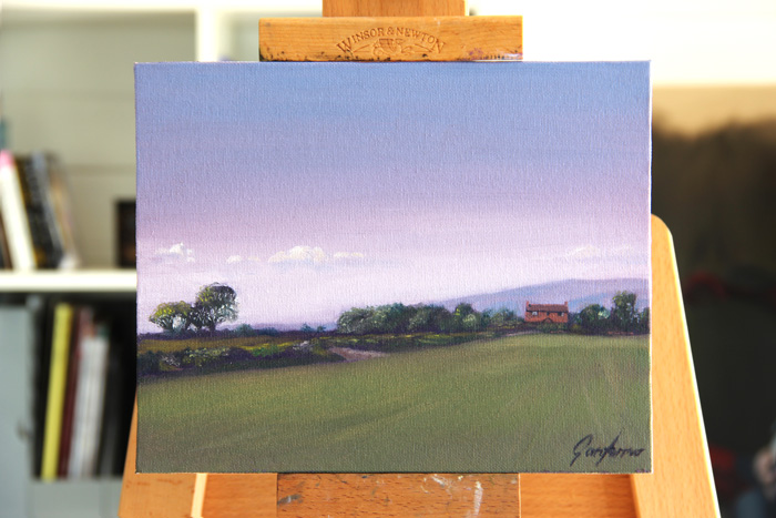 Towards the Pennines from Union Lane Plein Air Painting