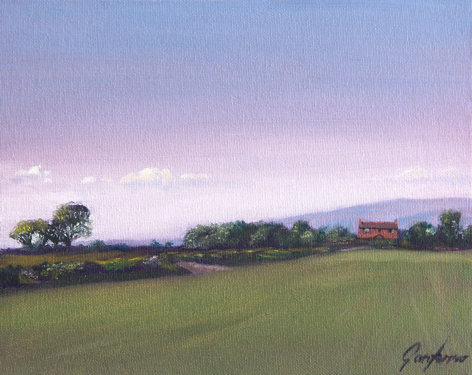 Landscape Painting - Towards the Pennines from Union Lane by Gary Armer