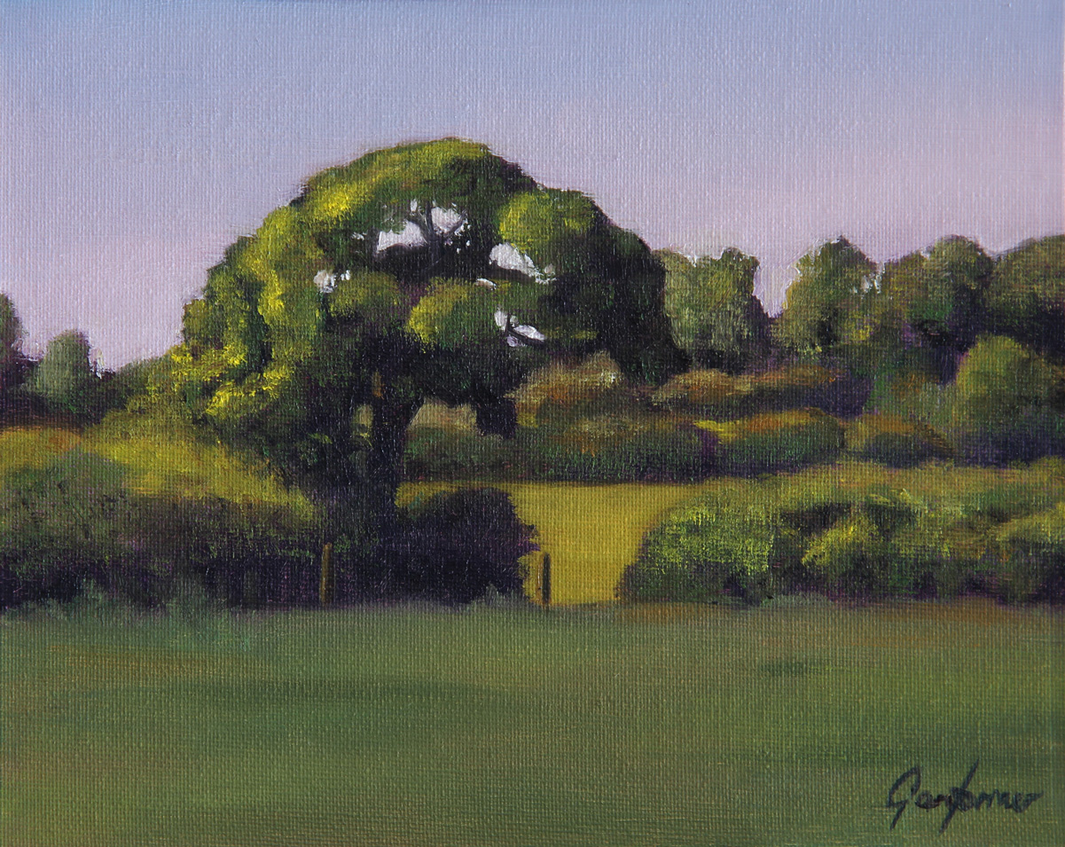 Tree in the Afternoon Sun Landscape Painting