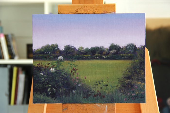 Wildflowers off Whin Lane Original Painting by Gary Armer Artist