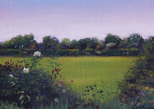 Wildflowers on Whin Lane Painting