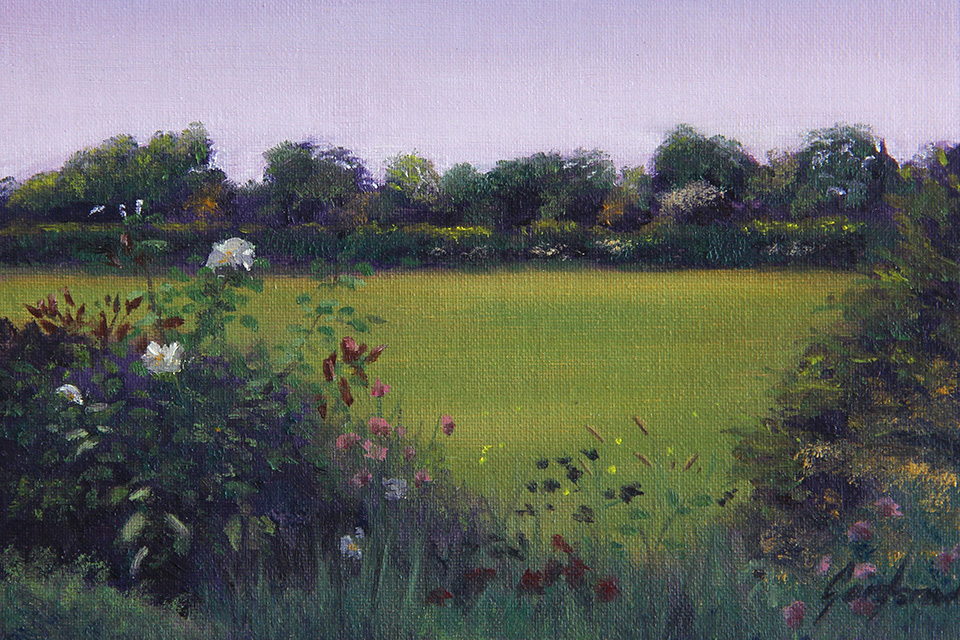 Wildflowers off Whin Lane Landscape Painting by Gary Armer Artist