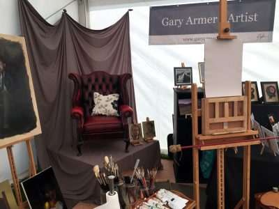 Artist's Stand at Southport Flower Show