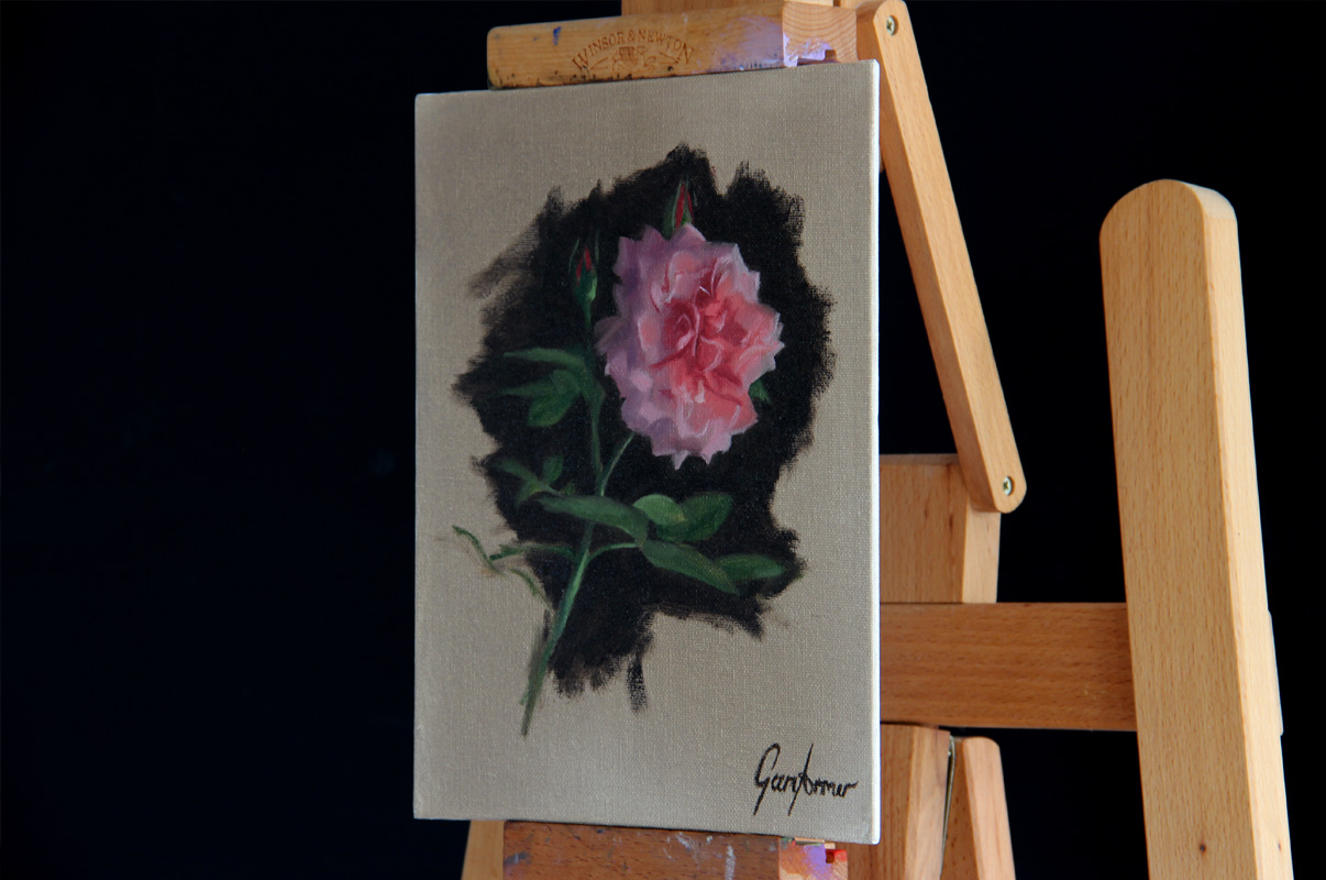 Floribunda Rose Oil Painting