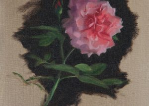 Oil Painting of Floribunda Rose