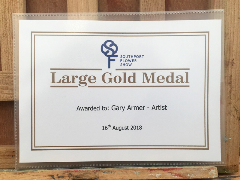 Large Gold Medal Award for Gary Armer Artist