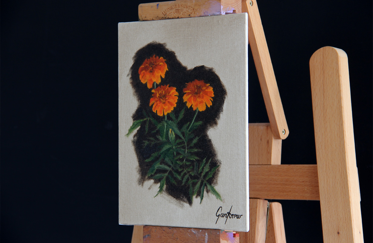 Marigolds Oil Painting