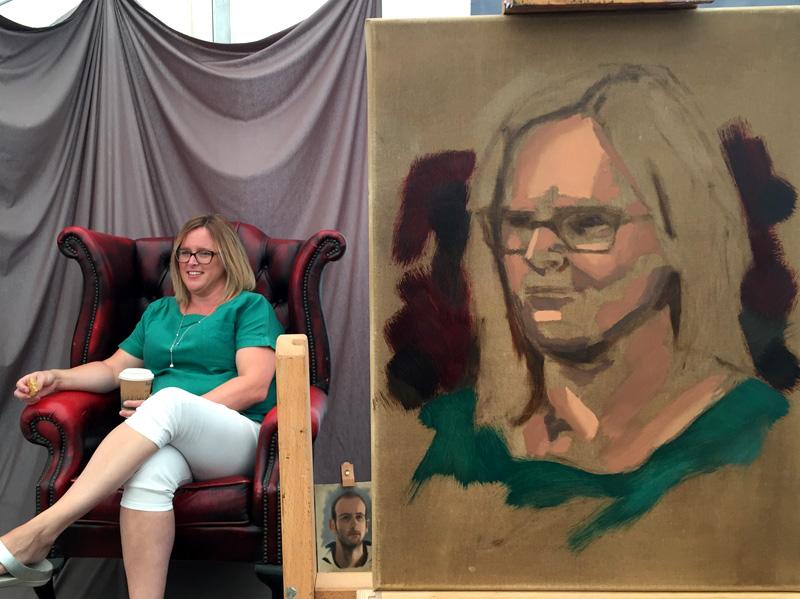 Portrait painting in progress
