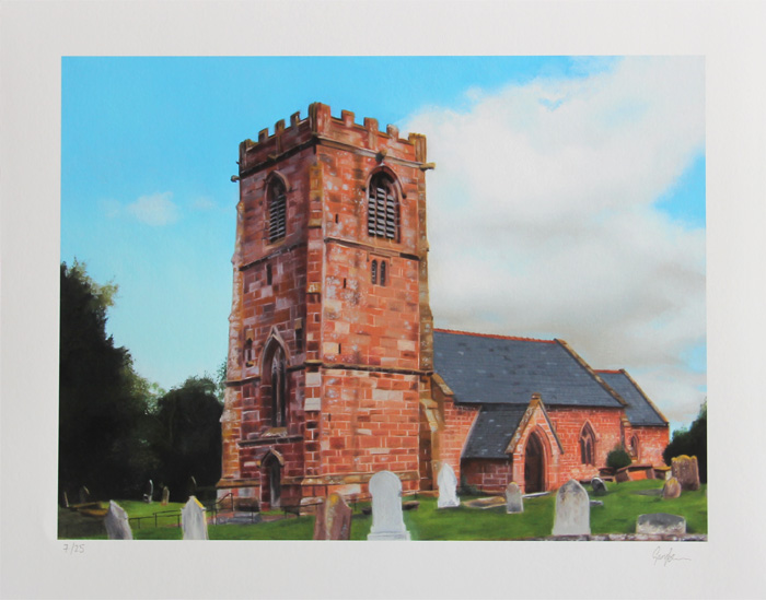 All Saints Church Handley Print