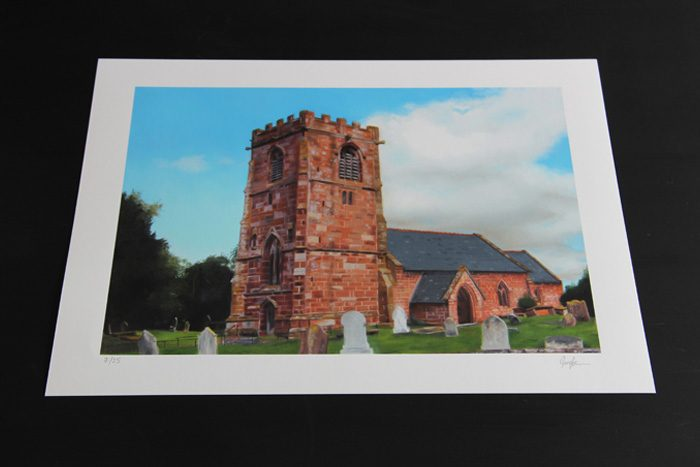 All Saints Church Handley Limited Edition Print