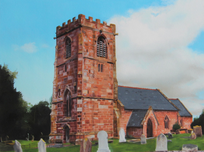 All Saints Church Handley Print by Gary Armer Artist